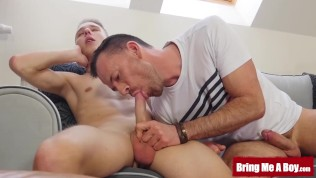 BRINGMEABOY Young Oliver Morgenson Fucks Daddy After Blowjob